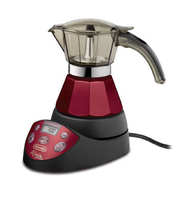 Cafetiere italienne moka electrique alicia delonghi emke21 red