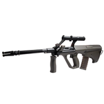 AIRSOFT 1Joule STEYR AUG A1 AUTHENTIQUE Lunette1.5x MILITARY