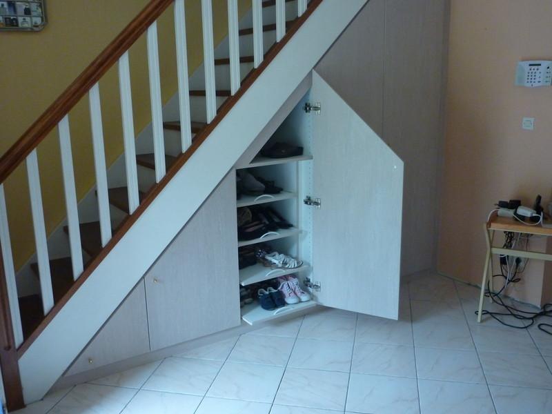 Haut Aménagement de placards sous escaliers - Les créations de pascal PS27
